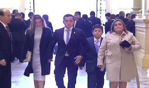 Detalles previos a ceremonia de juramentación de congresistas