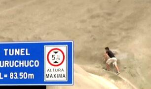 Ate Vitarte: túnel de Puruchuco es usado como puente peatonal