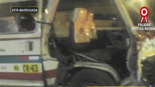 Independencia: choque de combi contra bus interprovincial deja cuatro heridos