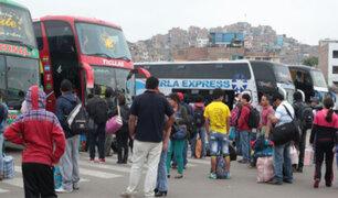 Terminal de Yerbateros: precio de pasajes se elevarían hasta en S/.130
