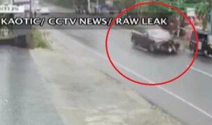 India: motociclista murió tras ser embestido por un automóvil