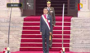 Ollanta Humala realiza último acto protocolar como presidente de la República