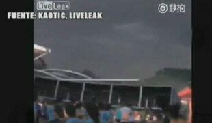 China: desplome de estructura deja 15 heridos