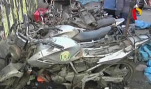 Policía recupera motos de la institución que habrían sido robadas