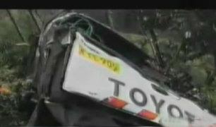 Huanta: despiste de auto dejó cinco muertos y seis heridos