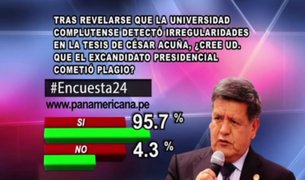 Encuesta 24: 95.7% cree que César Acuña sí cometió plagio en su tesis doctoral