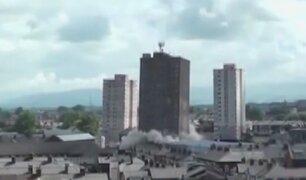 Inglaterra: derrumbaron edificios de 50 años de antigüedad