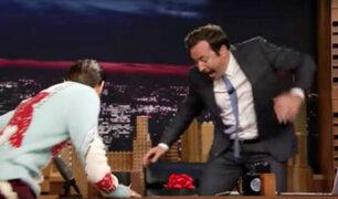 Jared Leto sorprende a Jimmy Fallon con aterrador regalo