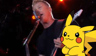 YouTube: Metallica 'cantando' tema de Pokémon en vivo se vuelve viral [VIDEO]