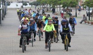 Ciclistas de diferentes colectivos se suman a marcha 'Ni una menos'
