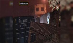 Puente Piedra: container de camión impacta contra vivienda