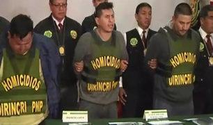 Dirincri: Presentan integrantes de banda que asesinó a cambista
