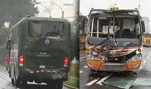 Jesús María: 24 heridos tras impacto de bus con vehículo de la policía