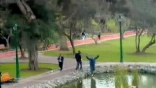 San Isidro: hombre cae a laguna por jugar Pokémon Go