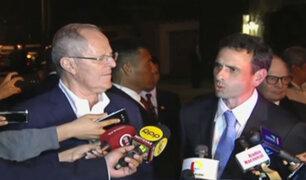 PPK se reunió con líder venezolano Henrique Capriles