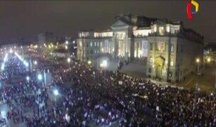Drone captó impresionantes imágenes de marcha 'Ni una menos'