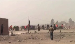 Ate: enfrentamiento entre vecinos e invasores de terrenos dejó varios heridos