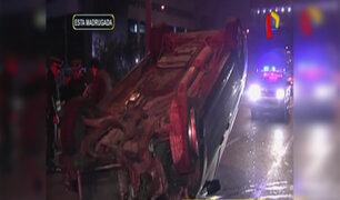 San Borja: conductor salva de morir tras volcadura de camioneta