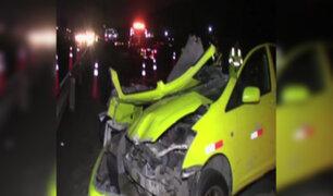VES: pasajero de taxi colectivo muere en accidente