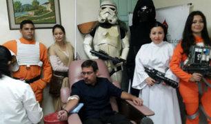 """El Salvador: Personajes de """"Star Wars"""" incentivan a donar sangre"""