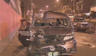 El Agustino: bailarines de circo sufren accidente vehicular
