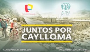 Filial de Panamericana Televisión realiza campaña para damnificados en Arequipa