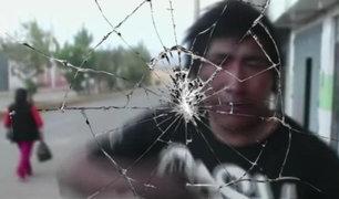 Huancayo: Ebrio rompe de un cabezazo cámara de video del municipio