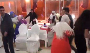 Turquía: Pánico en boda por fuerte detonación