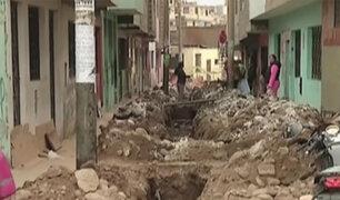 SMP: vecinos desesperados por zanja de desagüe