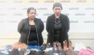 Cámaras captaron a mujeres robando en tiendas de San Isidro