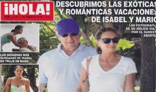 Mario Vargas Llosa e Isabel Preysler disfrutaron de sus vacaciones en Bali