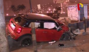 San Luis: chocan y abandonan costoso auto