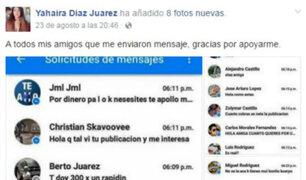 #LadyQuemones: Hace estallar las redes tras ofrecer su cuerpo en Facebook y publicar la lista de 'interesados'