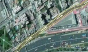 Surco: se inició construcción de viaducto de la avenida Benavides