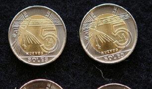 BCR reitera que sí acuñó monedas de 5 soles en el 2015