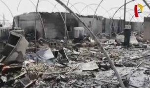 Irak: incendio en campo de refugiados