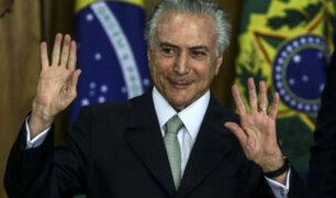 Brasil: ciudadanos piden renuncia de presidente Michel Temer