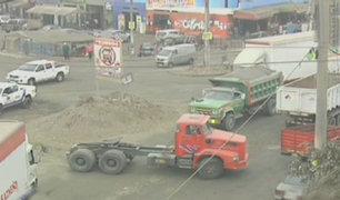 Huachipa: camiones no cumplen horario de tránsito en óvalo Huañec