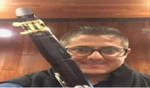 Músico de la orquesta sinfónica denunció el robo de su clarinete