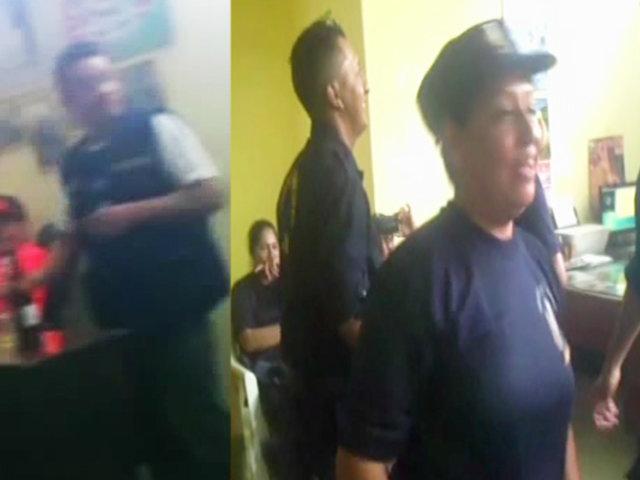 Jaén: Policías ediles son captados bailando y bebiendo licor en horas de trabajo