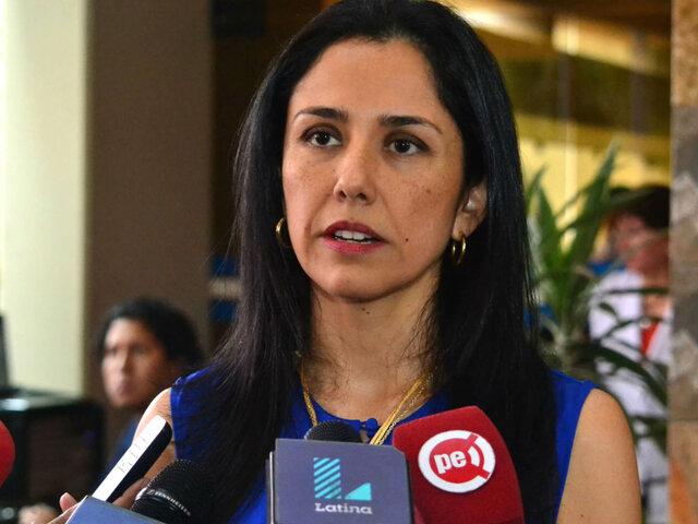 Piden modificar situación de Nadine Heredia para que viaje con autorización judicial
