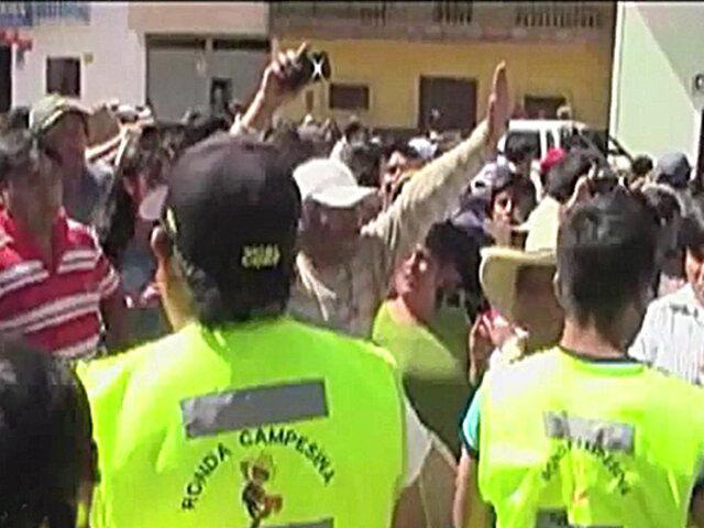 Cajamarca: Ronderos que castigaban a chamán casi son linchados por pobladores