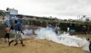 Iquitos: En violento desalojo invasores se enfrentan a policías