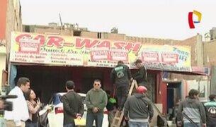Callao: clausuran negocio de lavado de autos que invadía vía pública