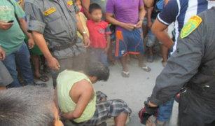 Iquitos: vecinos casi queman vivos a presuntos ladrones