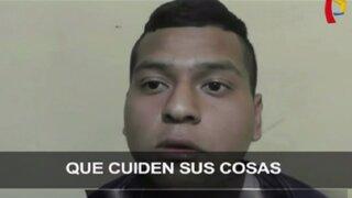 Mistura: capturan a sujeto que robaba celulares dentro de feria gastronómica