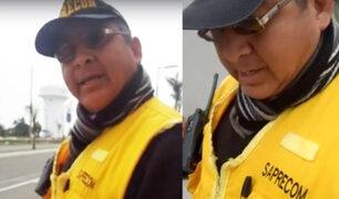 San Juan de Miraflores: Personal de seguridad maltrata a joven por ir en patines