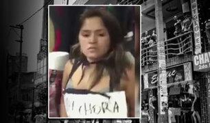 La Victoria: Castigan a ladrona que robaba en galerías de Gamarra