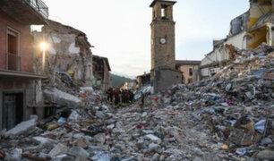 Italia: drones muestran destrozos de terremoto en Amatrice