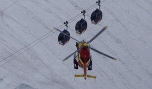 Alpes franceses: decenas de personas atrapadas en teleférico